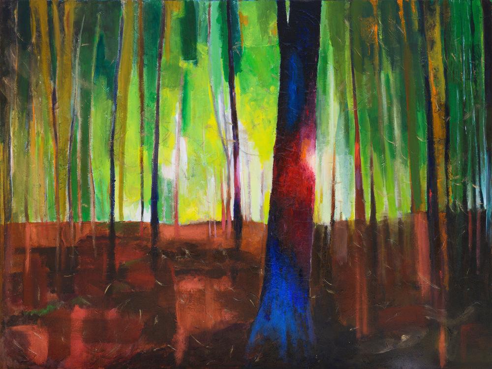 "SOLSTICE, acrylic on canvas 48"" x 36"""