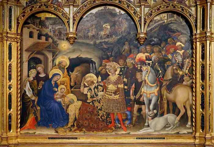 Adoration of the Magi by Gentile da Fabriano, Uffizi Gallery