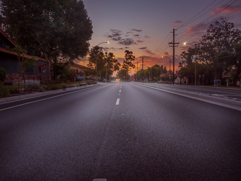 Route 66 - Foothill Blvd in Claremont, CA