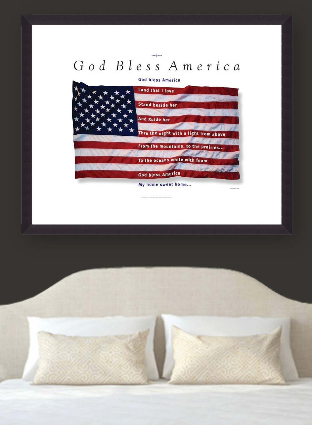 American Flag Poster, 9.11.01 Remembrance
