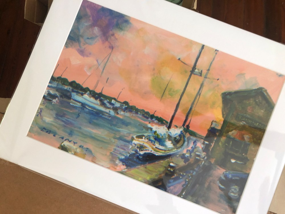 Bowen's Wharf Painting