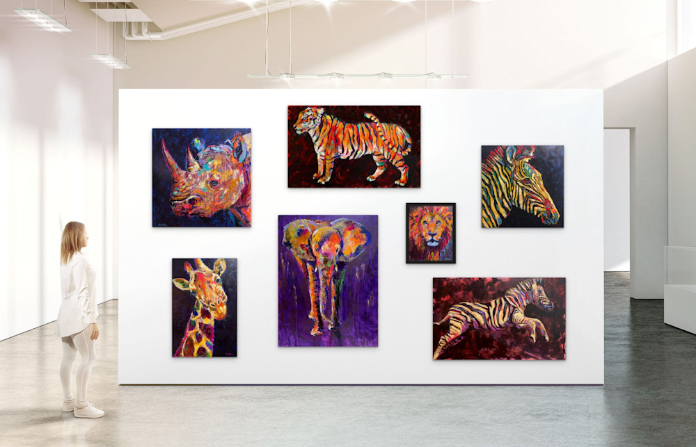 Into the Wild Safari Collection of Paintings by Rick Osborn