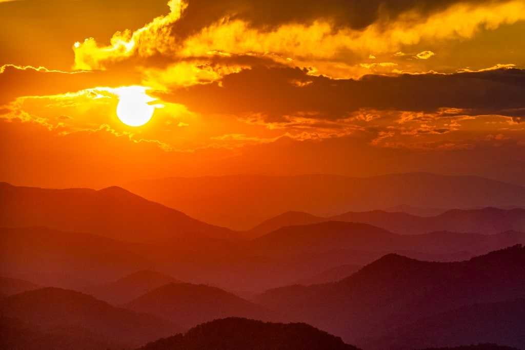 Albert Mountain sunset photography
