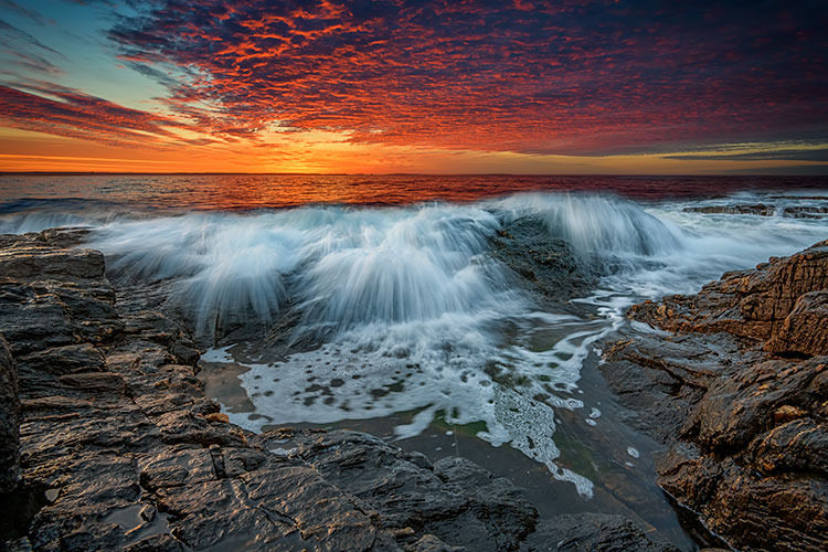 Waves Crash at Daybreak