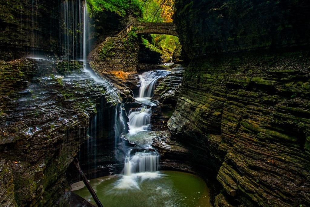 Watkins Glen Gorge waterfall