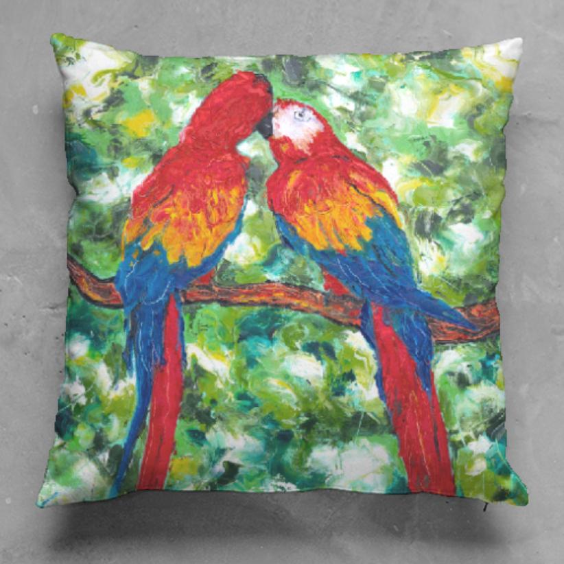 Parrotdise Pillow