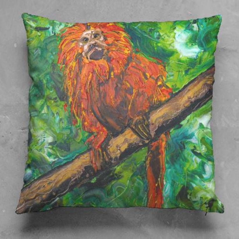 Mico Leão Dourado Pillow