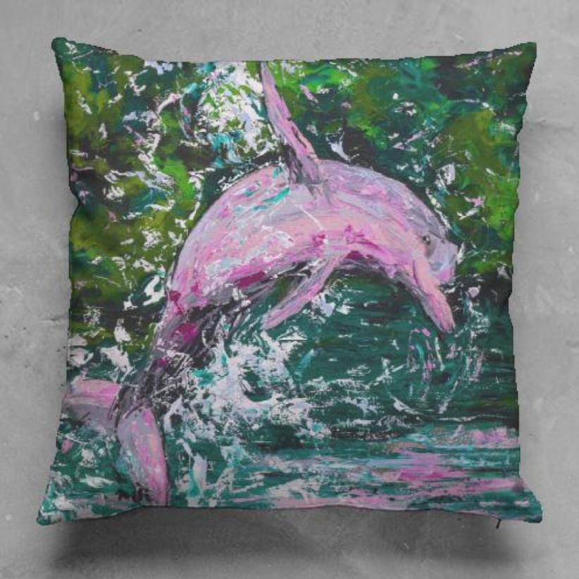 Boto Cor de Rosa Pillow