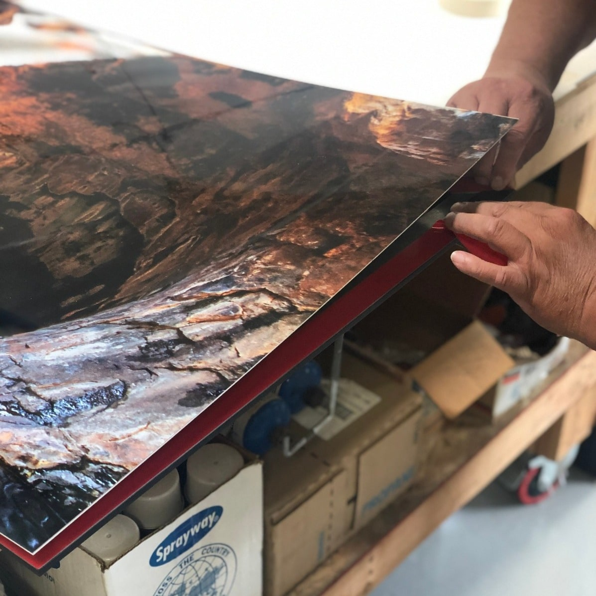 Acrylic Prints at Prolab Digital use backers to provide behind-the-scenes excellence