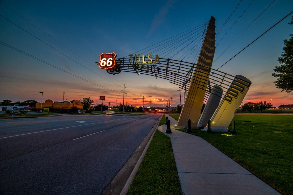 Route 66 Tulsa sign