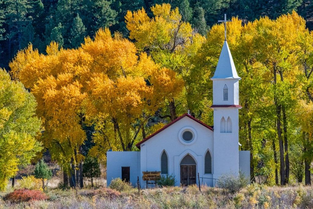 Rocky Mountain Religion - Colorado church in the fall