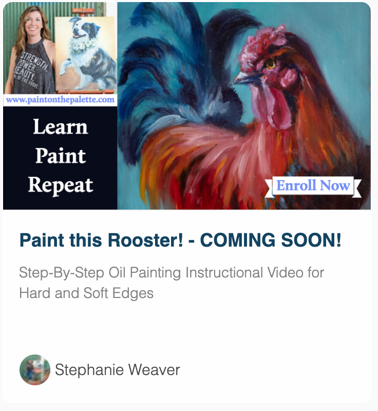 Paint a rooster oil painting class