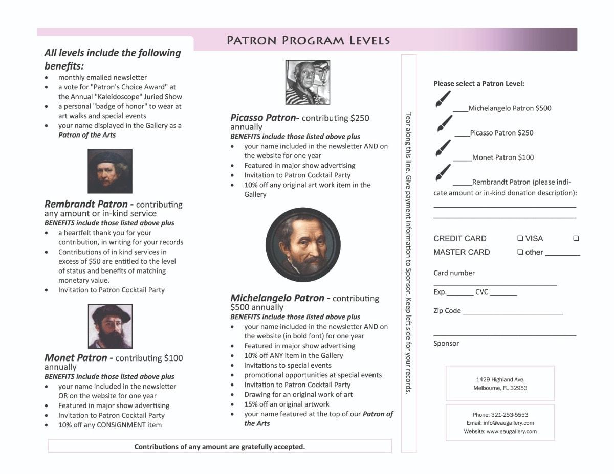 Patron Brochure