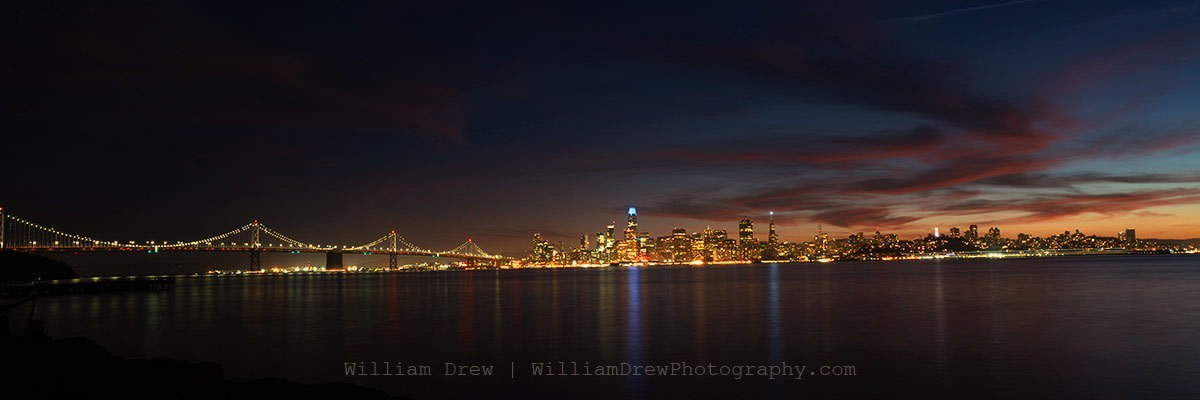 San Francisco City Skyline at Night