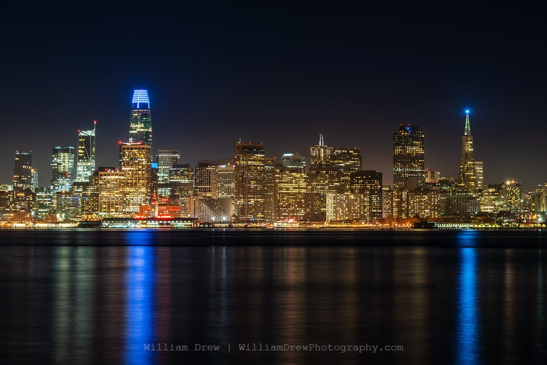 Nighttime San Francisco Skyline