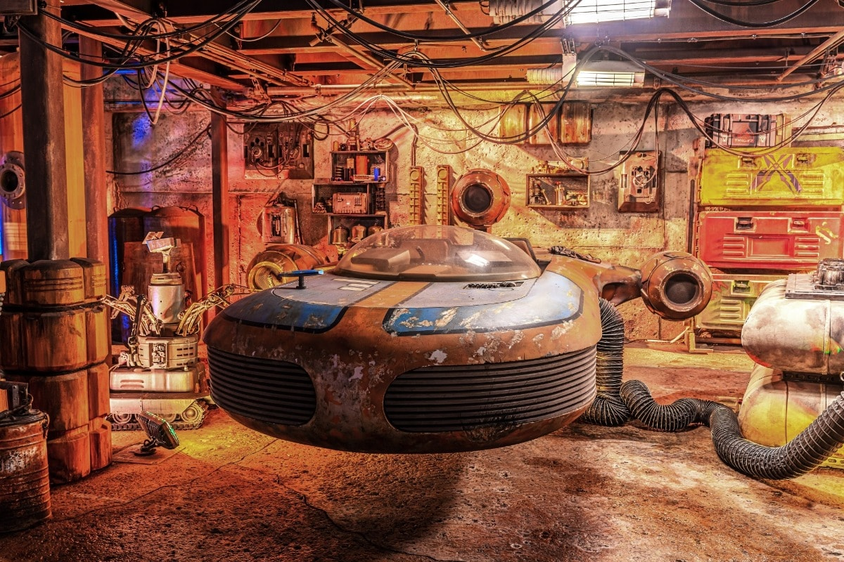 Luke Skywalker Landspeeder at Disneyland California