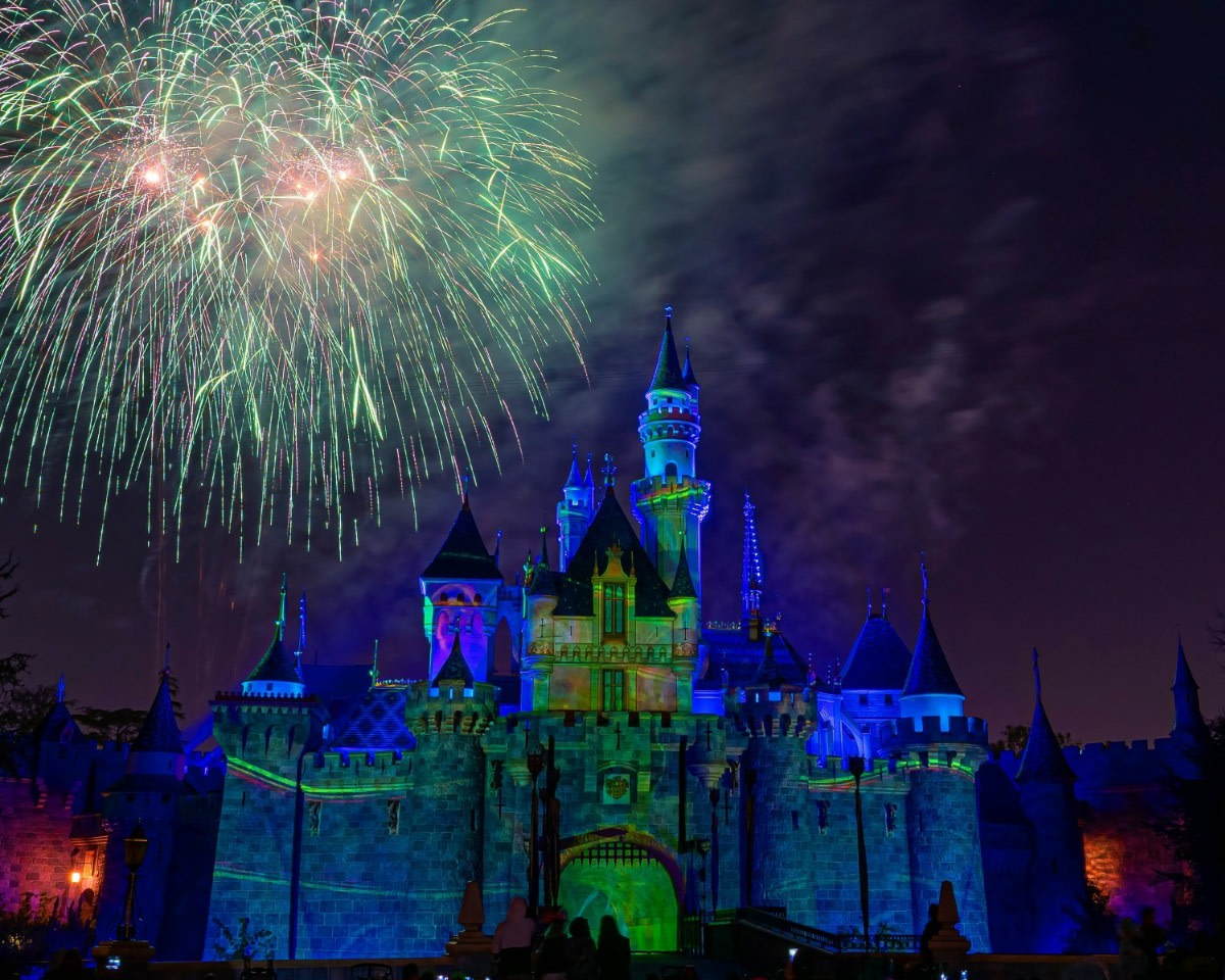 Mickey's Mix Magic with Fireworks Photograph