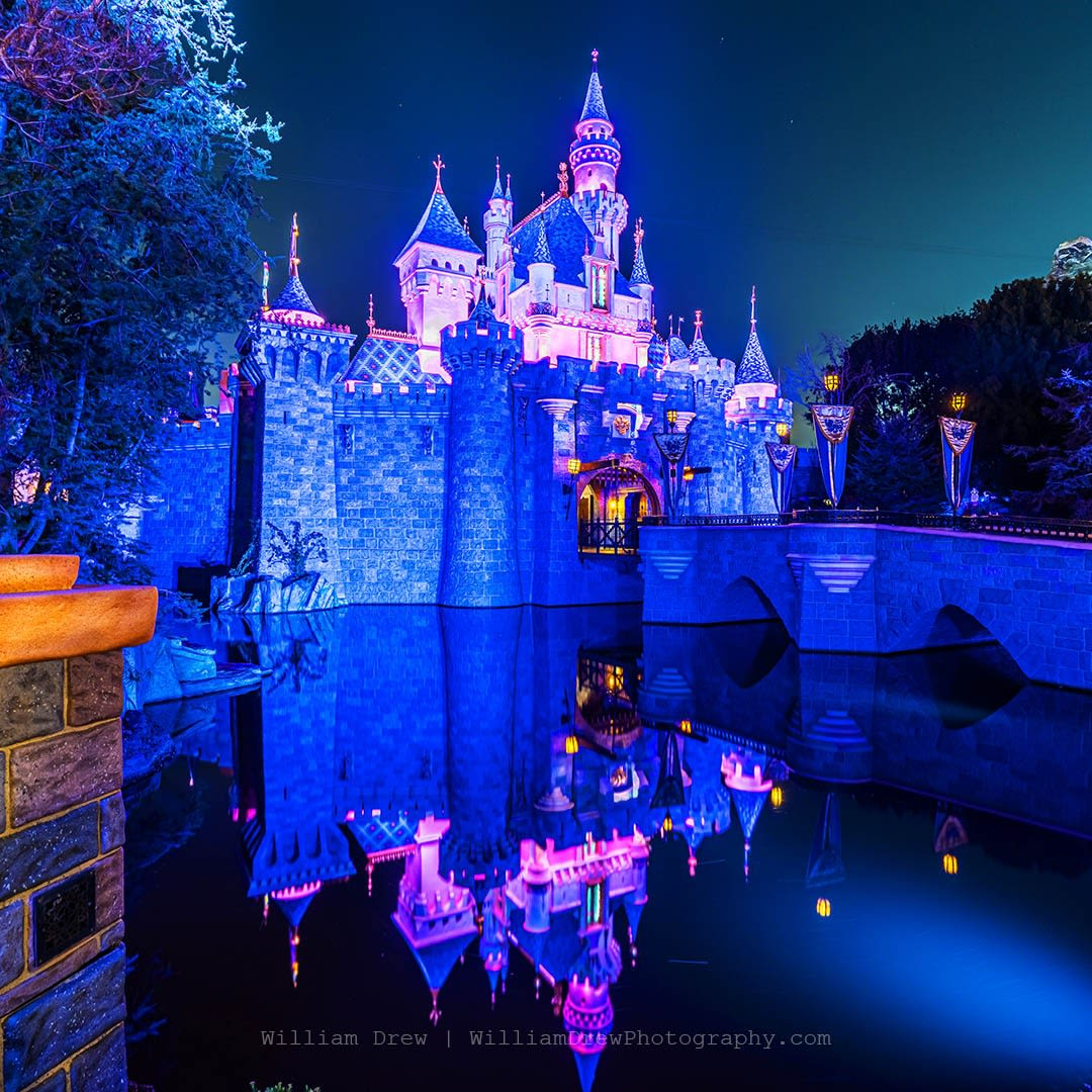 Nighttime Sleeping Beauty Castle