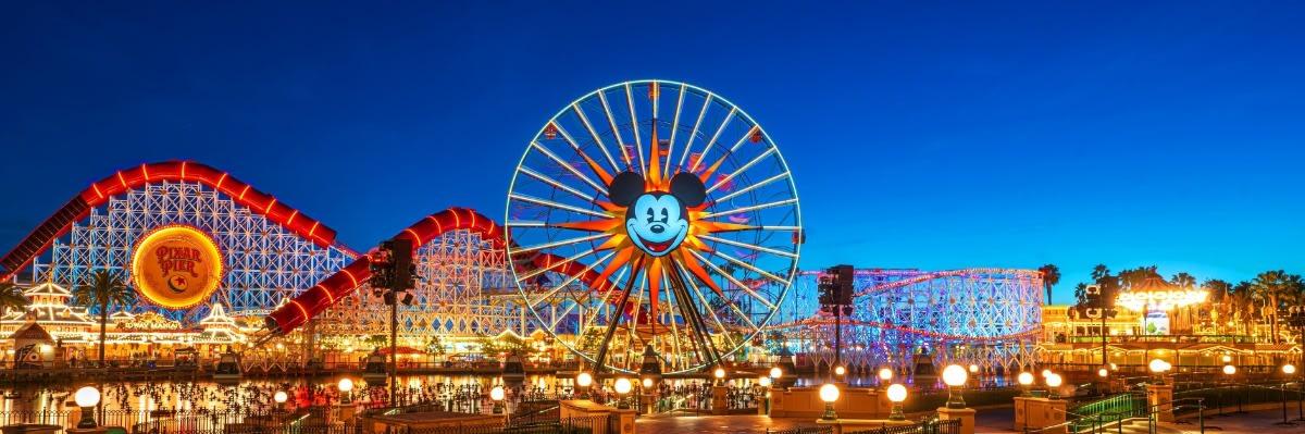 Disneyland Pixar Pier at Dusk