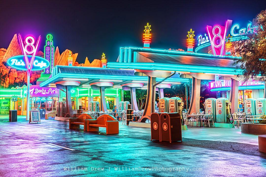 Cars Land Neon Lights