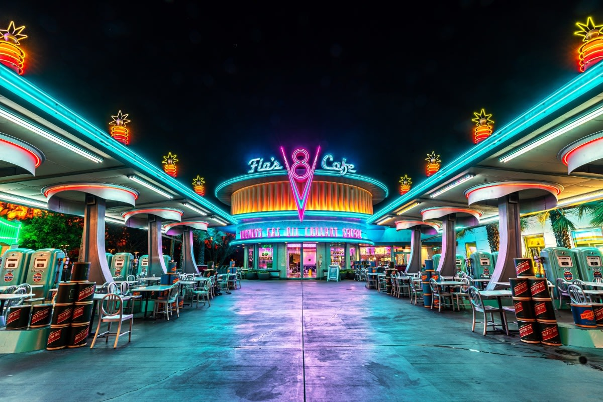 Flo's Cafe - Disneyland Art