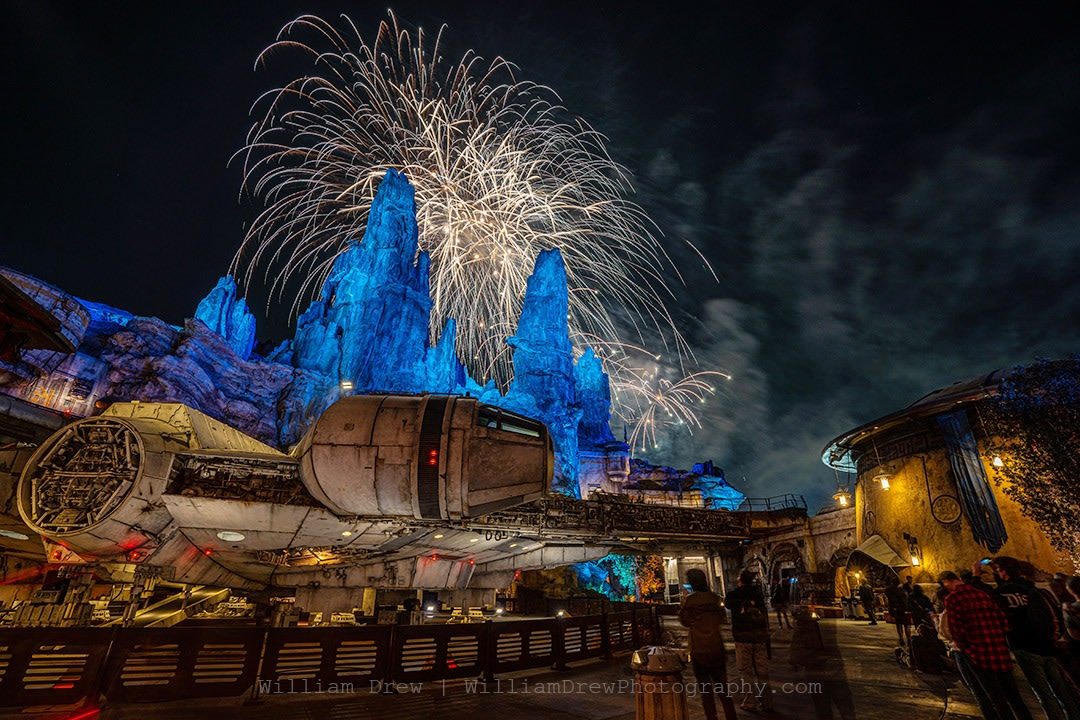 Fireworks and the Millennium Falcon