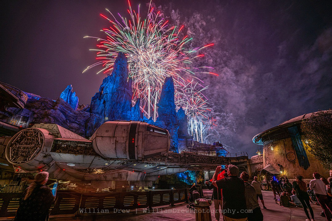 Star Wars Land Fireworks