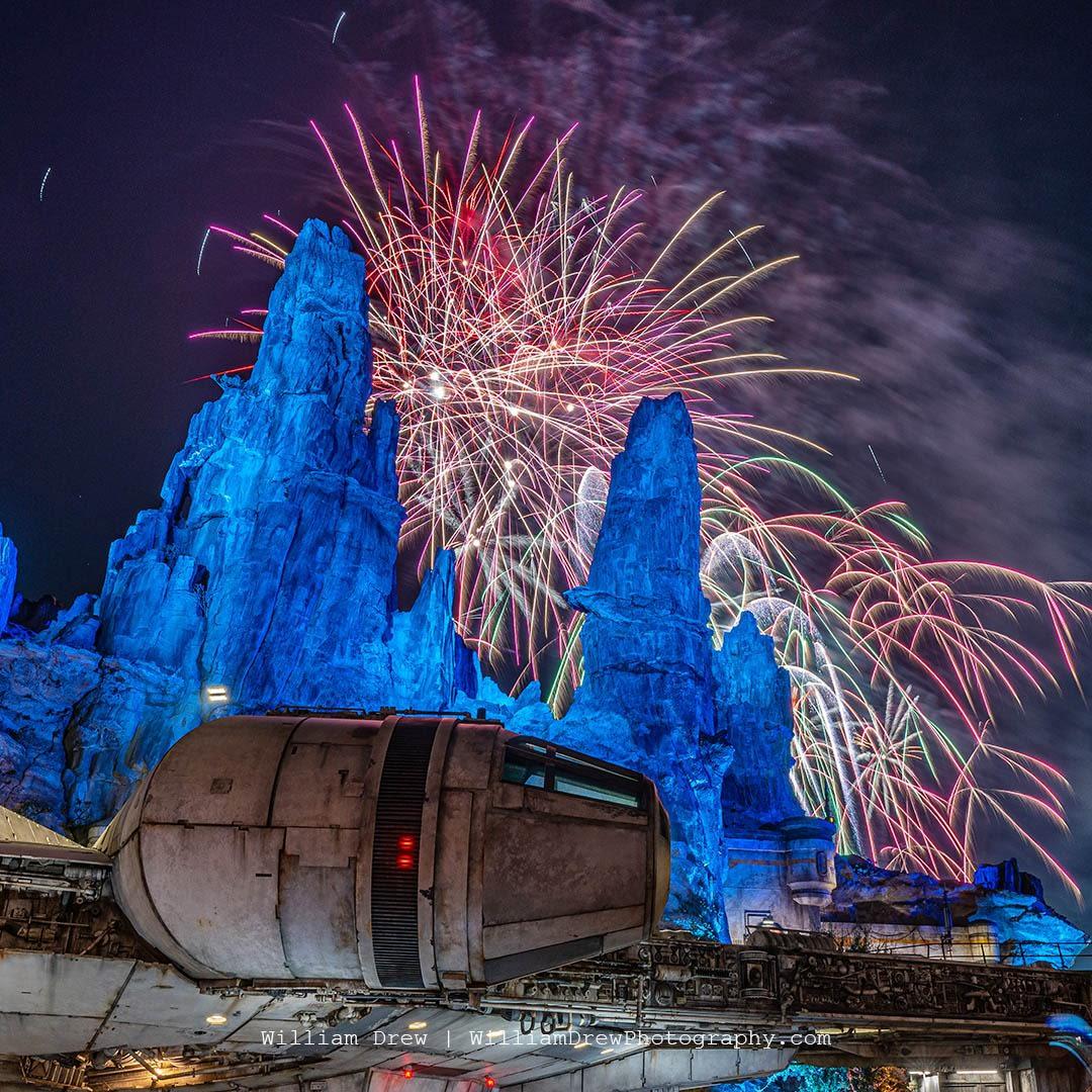 Millennium Falcon Smugglers Run Fireworks