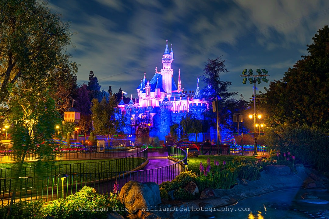 Sleeping Beauty Castle in the Evening