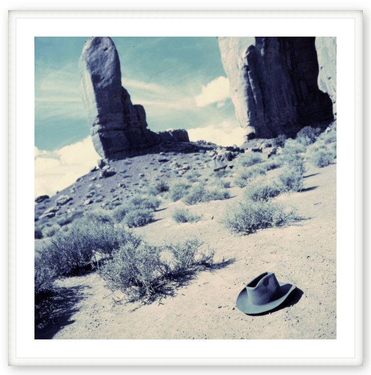 HAT ON DESERT FLOOR