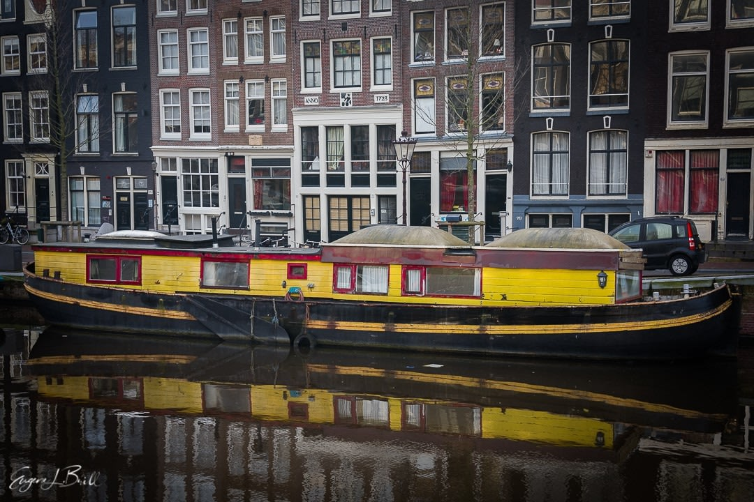 Amsterdam Houseboat by Eugene Brill