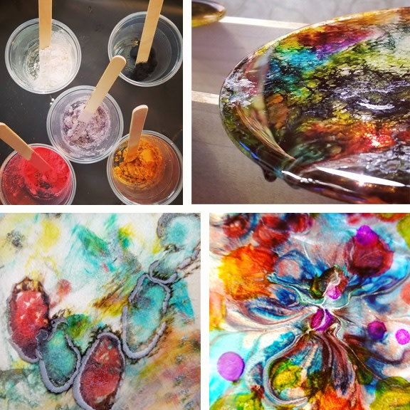 experiments in resin art