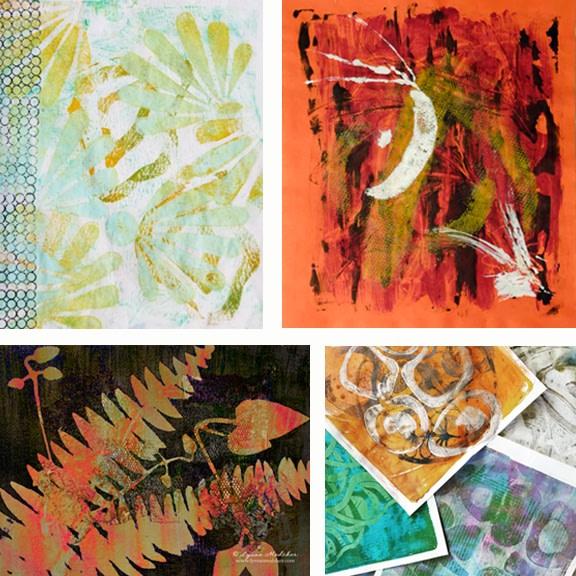 printmaking on gelatin plates