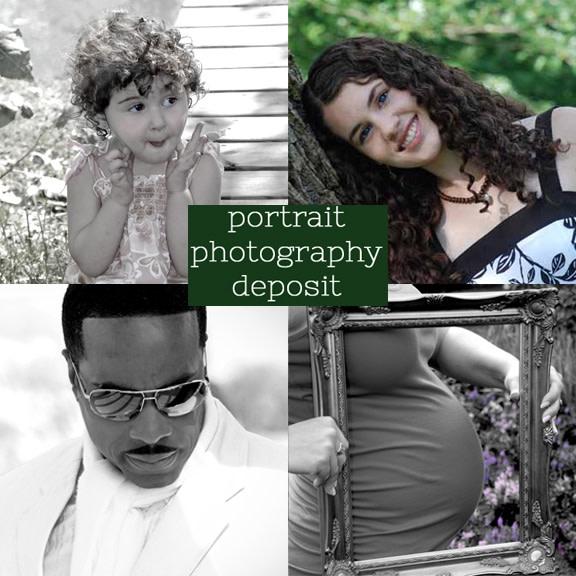 portrait photography deposit