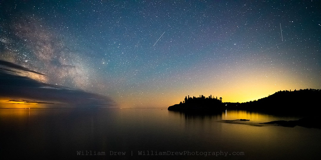Ellingson Island and the Milky Way - Milky Way Photos | William Drew Photography