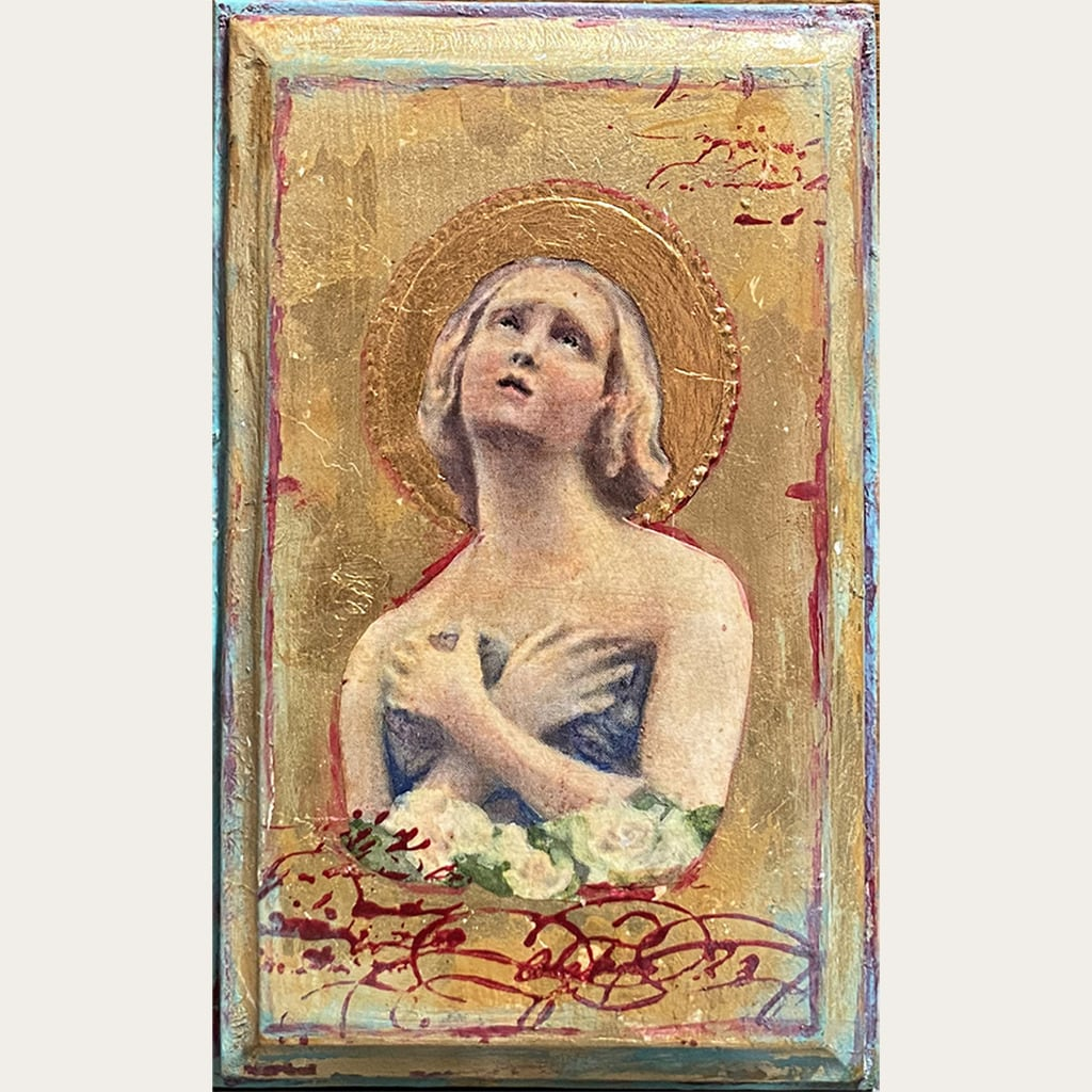 24k Angel plaque