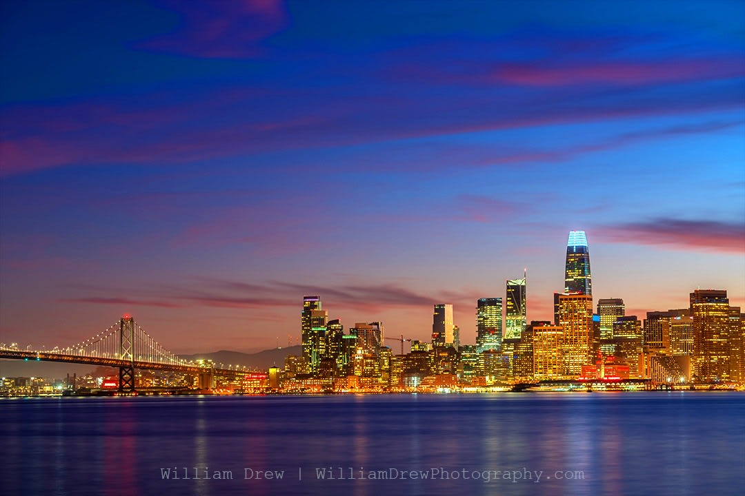 Salesforce Tower and San Francisco Sunset