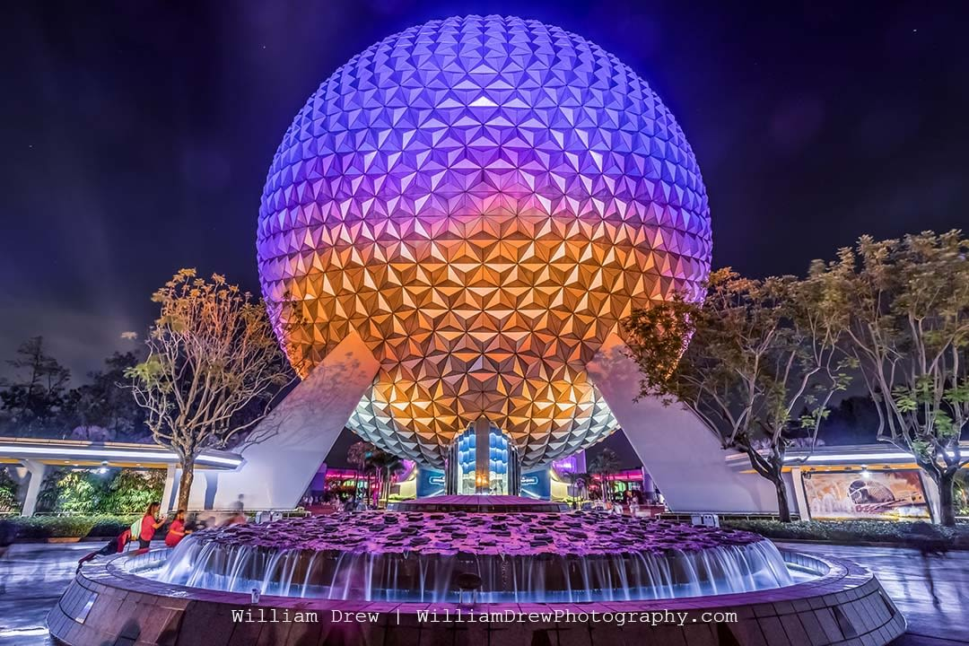 Spaceship Earth at Night 8