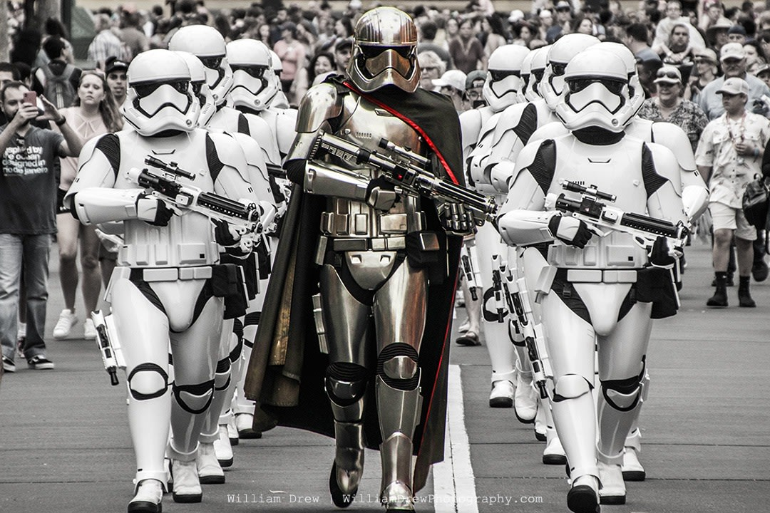 Captain Phasma and the Stormtroopers March