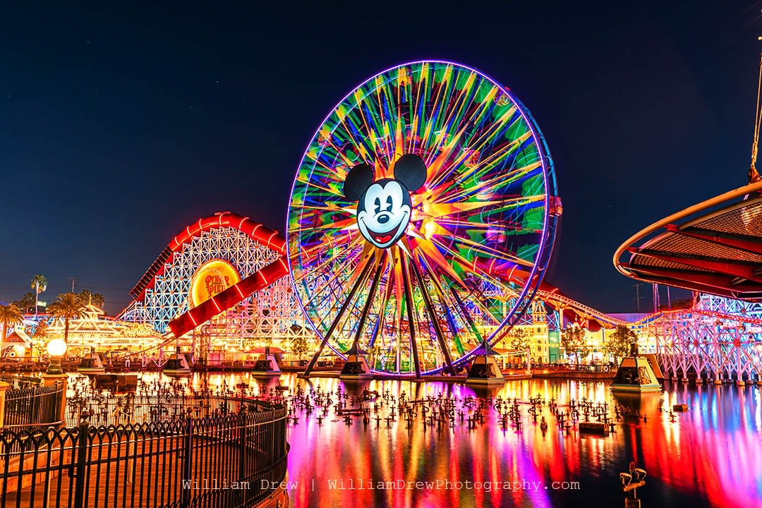 Pixar Pier and Mickey Mouse at California Adventure