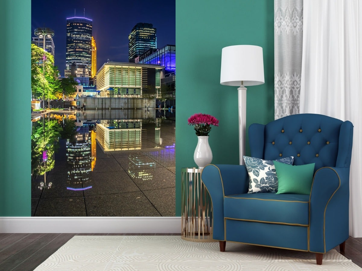 Minneapolis Reflections at Peavey Plaza - Minneapolis Wall Murals | William Drew Photography
