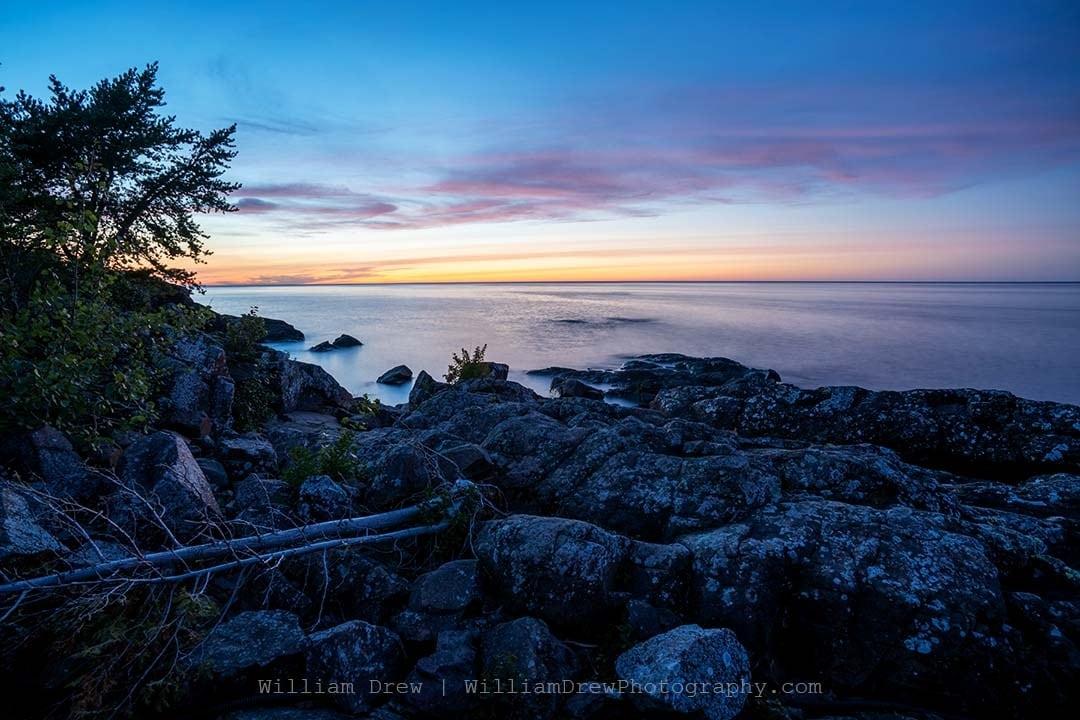 Eagle Harbor Lake Superior Sunset - Lake Superior Art | William Drew Photography