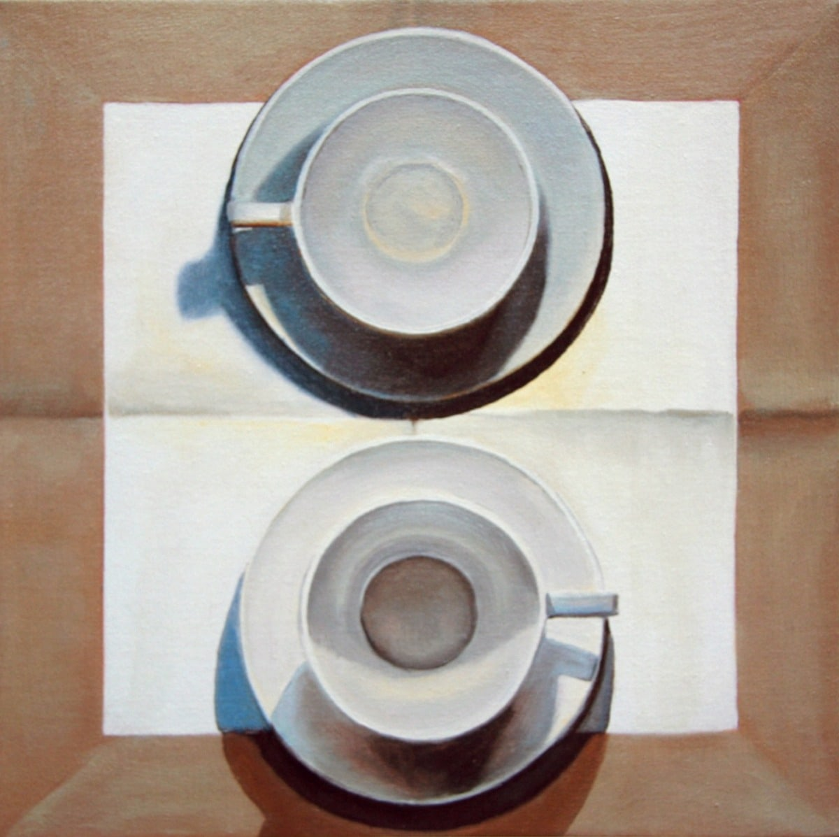 2 Large Cups on Linen