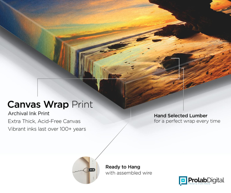 Custom canvas prints Prolab Digital tooltips
