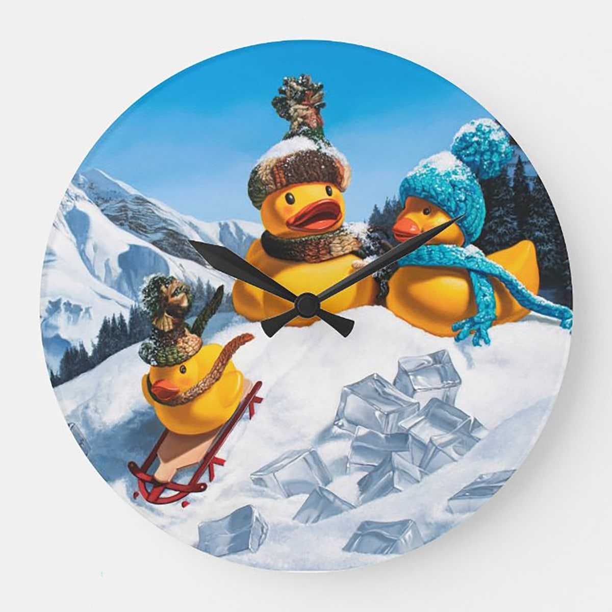 """Cold Duck"" acrylic wall clock"
