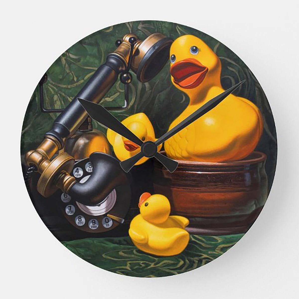 """Duck Soup"" acrylic wall clock"