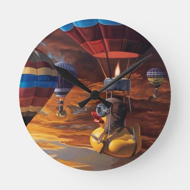 """Air Ducks"" acrylic wall clock"