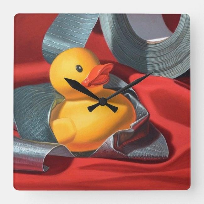 """Duck Tape"" acrylic wall clock"