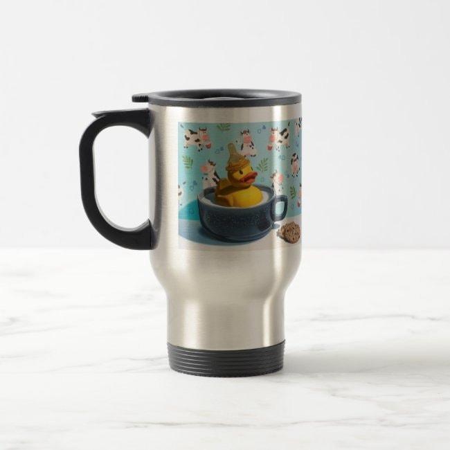 """Milk Duck"" travel mug"