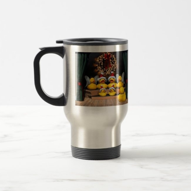 """Duck the Halls"" travel mug"